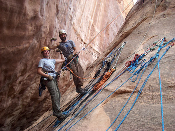 Cliffs & Canyons guides-riggers Scott Deputy & Amanda Smith