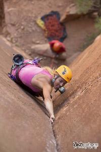 Mia Tucholke - Rock Climbing & Canyoneering Guide - Moab Cliffs & Canyons