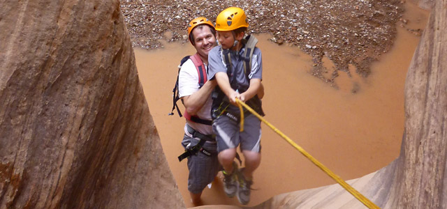 1/2 Day Canyoneering Trip in Chamisa Canyon