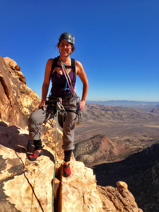 Rock Climbing at Red Rock Canyon, Nevada